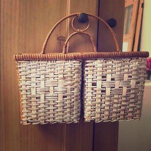 Other - Vintage basket style letter/ mail holder.